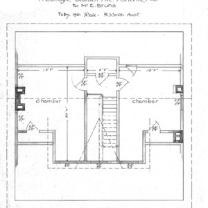 A Cottage- Bearden Ave.- for Mr. E. Bruns--Chamber Plan