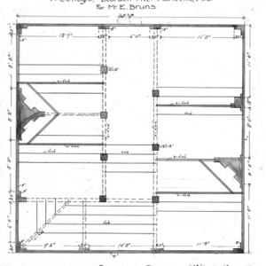A Cottage- Bearden Ave.- for Mr. E. Bruns--Basement Plan