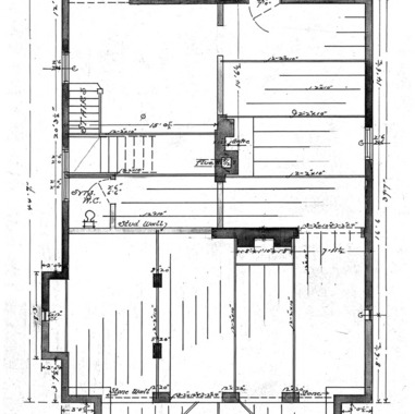 A Cottage- Watauga St.- for Mrs. Elizabeth Bolton-Floor Plan