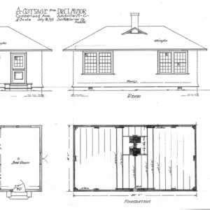 A Cottage for Dr. C. L. Minor- Cumberland Ave., Elevations & Floor Plans