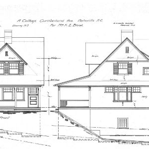 A Cottage- Cumberland Ave- for Mrs. K.E. Blood--Front & South Side