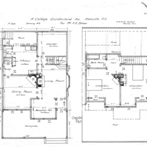 A Cottage- Cumberland Ave- for Mrs. K.E. Blood--First & Second Plan - Drawing No. 2