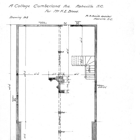 A Cottage- Cumberland Ave- for Mrs. K.E. Blood--Basement Plan - Drawing No. 2