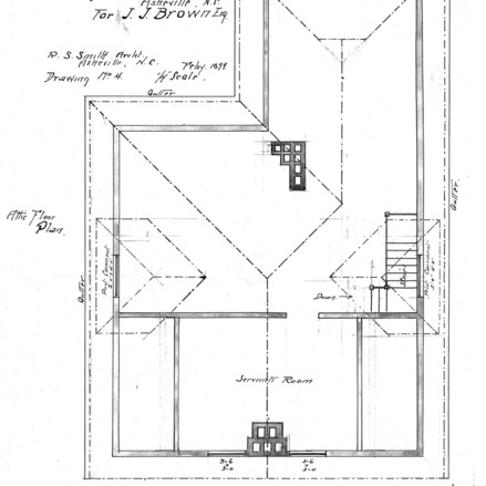 Cottage- Cumberland Ave.- for J.J. Brown--Attic Floor Plan - No. 4