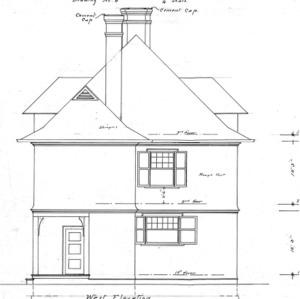 Cottage- Cumberland Ave.- for J.J. Brown--West Elevation