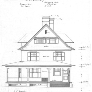 Cottage- Cumberland Ave.- for J.J. Brown--East Elevation