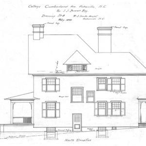 Cottage- Cumberland Ave.- for J.J. Brown--North Elevation
