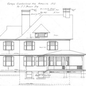 Cottage- Cumberland Ave.- for J.J. Brown--South Elevation