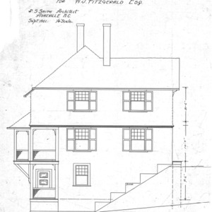 Cottage- Montford Ave- for W.J. Fitzgerald--Side