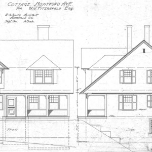 Cottage- Montford Ave- for W.J. Fitzgerald--Front & Side