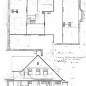 Residence- Montford Ave.- for Mrs. Mary W. Wolcott--Basement Plan