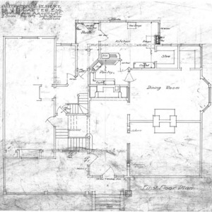 Additions to Residence for J.H. Carter Esq.--First Floor Plan