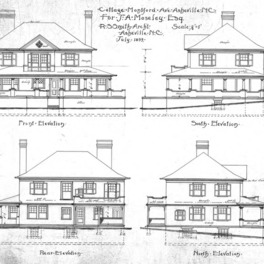 Cottage- Montford Ave.- for J.A. Moseley--Elevations