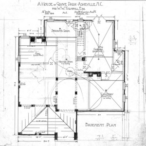 A House in Grove Park for W.W. Turnbull--Basement Plan - No. 1