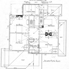 A House in Grove Park for W.W. Turnbull--Second Floor Plan