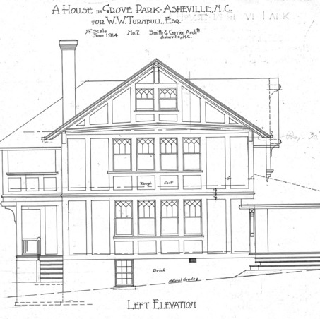 A House in Grove Park for W.W. Turnbull--Left Elevation