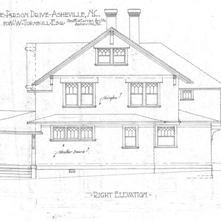 A House in Grove Park for W.W. Turnbull--Right Elevation