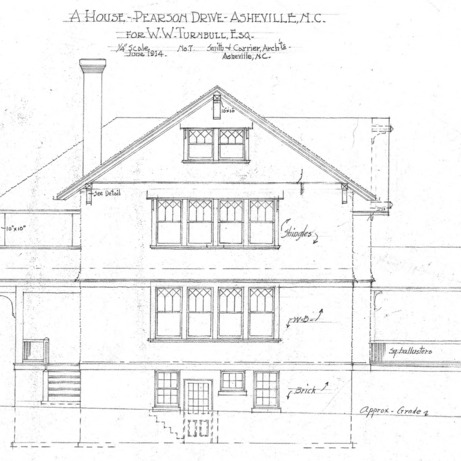 A House in Grove Park for W.W. Turnbull--Elevation