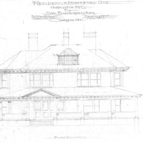 Residence Montford - For S. W. Buckman--Front Elevation