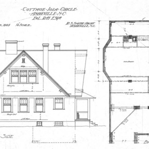 Cottage - Iola Circle - For Ed. L. Ray Esq.--North Side and Basement