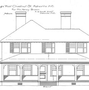 Cottage - West Chestnut St - For Mr. Henry Brown--Front