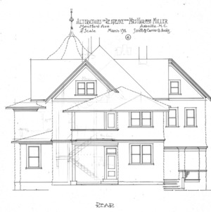 Alterations to Residence for Mrs. Harman Miller - Montford Avenue--Rear