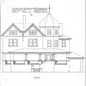 Alterations to Residence for Mrs. Harman Miller - Montford Avenue--Front