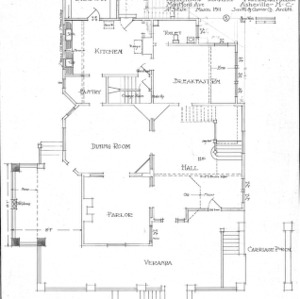 Alterations to Residence for Mrs. Harman Miller - Montford Avenue--First Floor