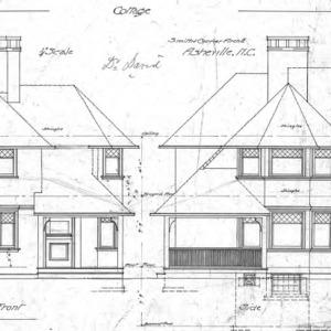 Cottage - E Chestnut St. For Dr. J. E. Davis--Front and Side