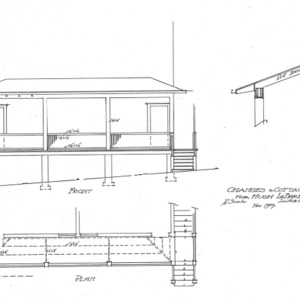 Changes to Cottage for Hugh LaBaube--Front and Plan