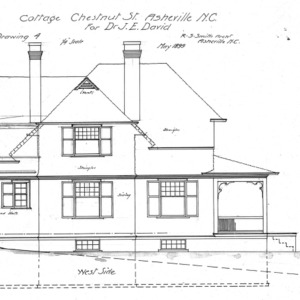 Cottage Chestnut St. For Dr. J. E. Davis--West Side
