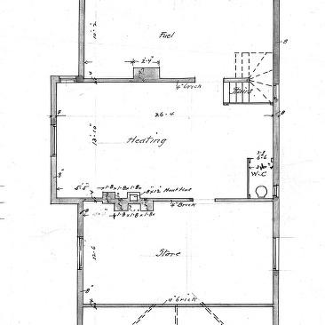 Cottage Chestnut St For Dr J E Davis Floor Plan