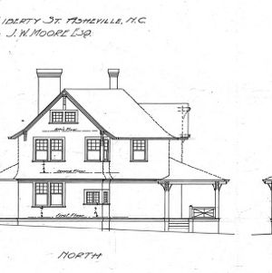 Cottage - Liberty St. - For J.W. Moore--West- North- South