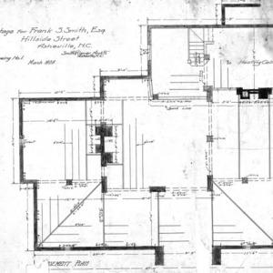 Cottage for Frank Smith - Hillside Street--Basement Plan