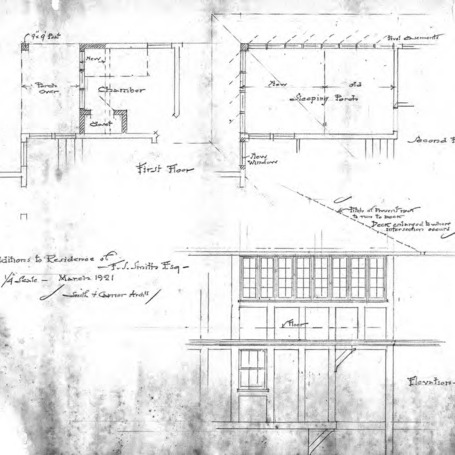Additions to Residence of F.S. Smith-First and Second Floor – Elevation