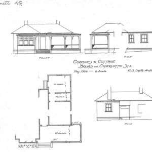 Changes to Cottage - Broad and Charlotte St-Elevations and Floor Plan