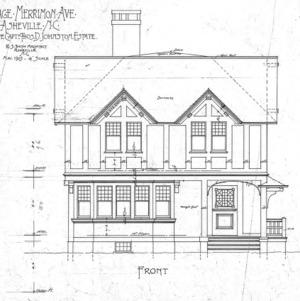 Cottage Merrimon Avenue - for the late Capt. Thos. D. Johnston-Estate--Front