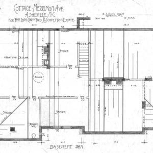 Cottage Merrimon Avenue - for the late Capt. Thos. D. Johnston-Estate--Basement Plan