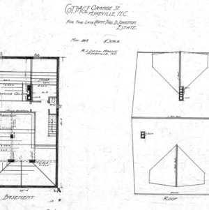 Cottage Merrimon Avenue - for the late Capt. Thos. D. Johnston-Estate--Basement and Roof - Orange St.