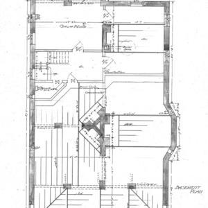 Cottage for S.G. Bernard - Chestnut St.--Basement Plan