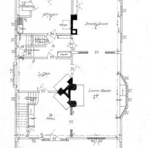 Cottage for S.G. Bernard - Chestnut St.--First Floor Plan