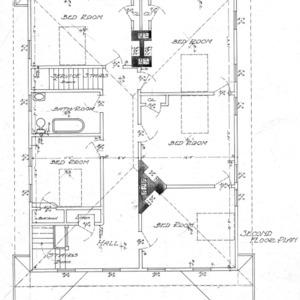 Cottage for S.G. Bernard - Chestnut St.--Second Floor Plan