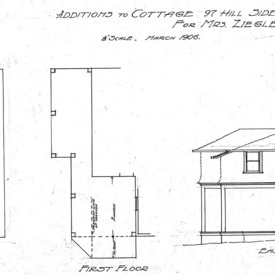 Additions to Cottage - 97 Hillside Street-Second and First Floor- Side