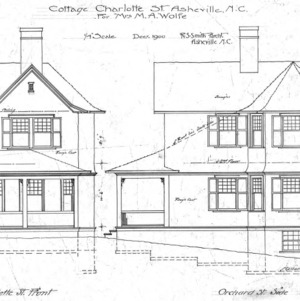 Cottage - Charlotte St. For Mrs. M. A. Wolfe--Charlotte St. Front and Orchard St. Front