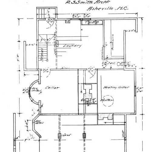 Additions to Residence For J. C. Martin - Chestnut St.--Basement Plan