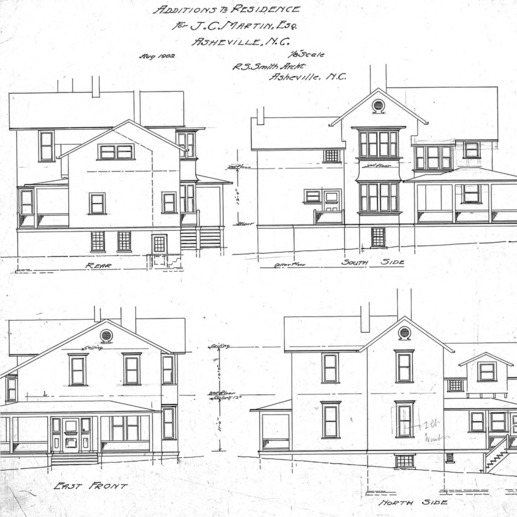 Additions to Residence For J. C. Martin - Chestnut St.--Elevations