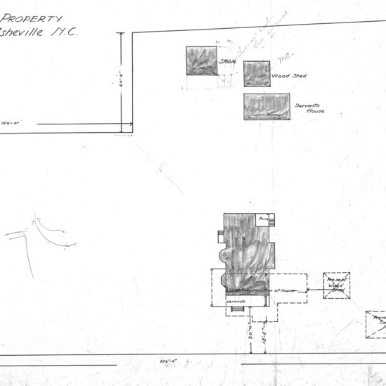 Additions to Residence For J. C. Martin - Chestnut St.--Plan
