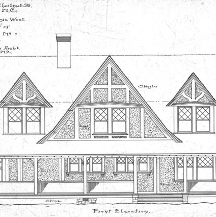 Cottage - Chestnut St. - For Miss Annie West--Front Elevation