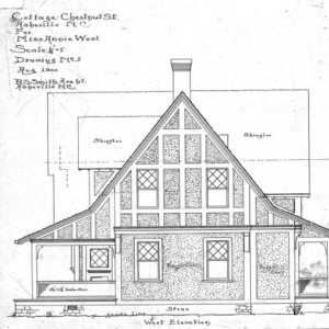 Cottage - Chestnut St. - For Miss Annie West--West Elevation