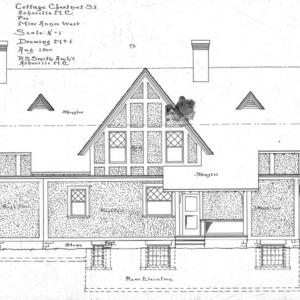 Cottage - Chestnut St. - For Miss Annie West--Rear Elevation